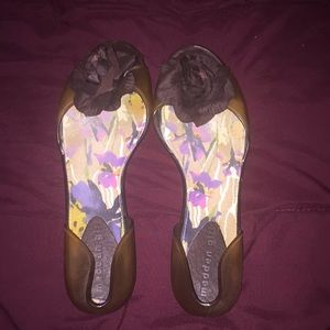 Madden Girl floral jelly flats